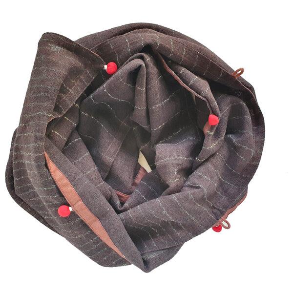 Handprinted Fine Wool Scarf-Narrow-islington narrow