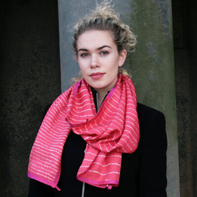 Handprinted scarf Notting Hill wide