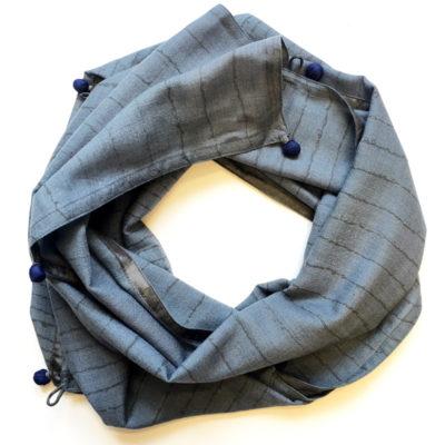 handprinted Fine Wool Scarf Fitzrovia