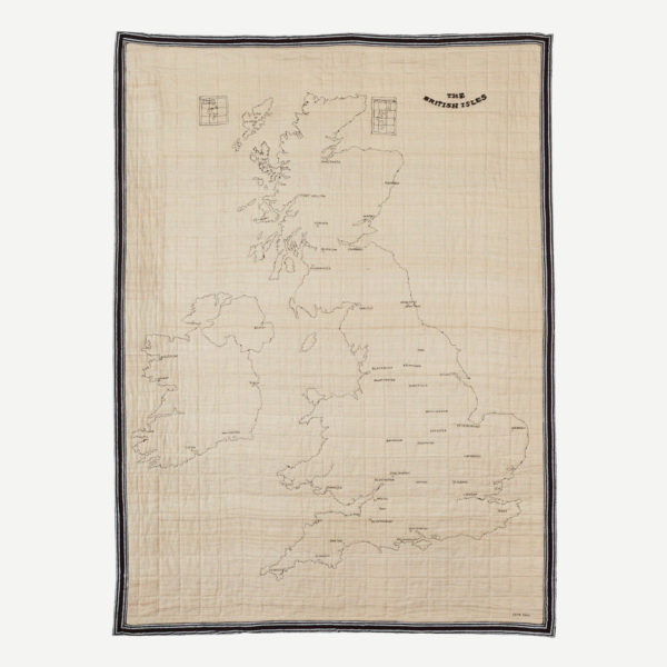 British Isles Embroidered Map