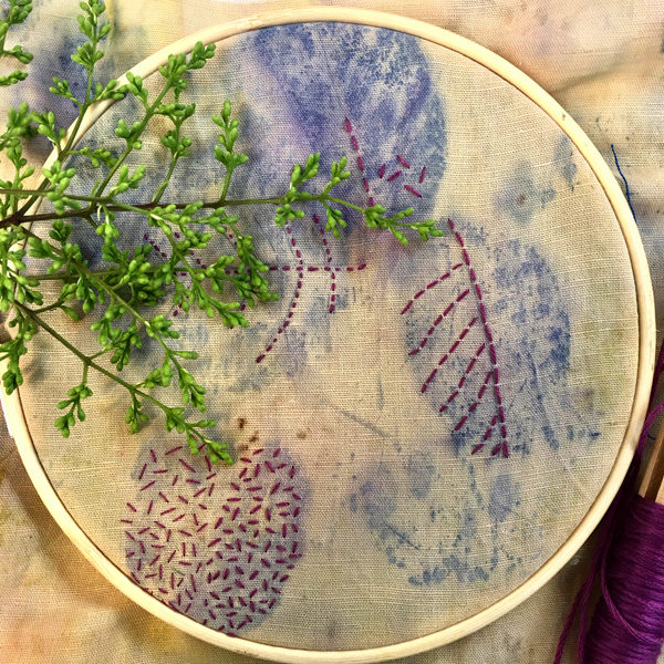 learn eco printing embroidery course with ekta kaul