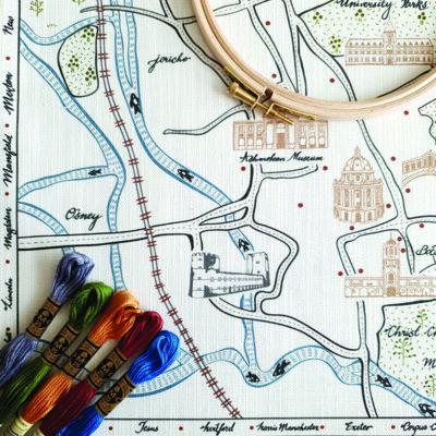Oxford Map Embroidery Kit Ekta Kaul