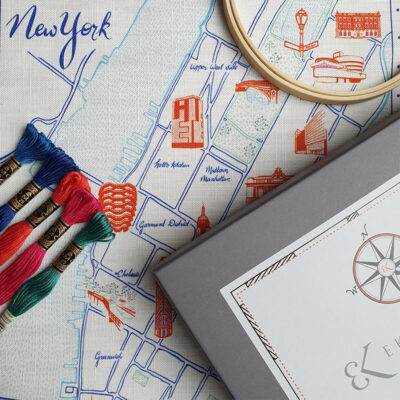Ekta Kaul New York Map Embroidery kit with box