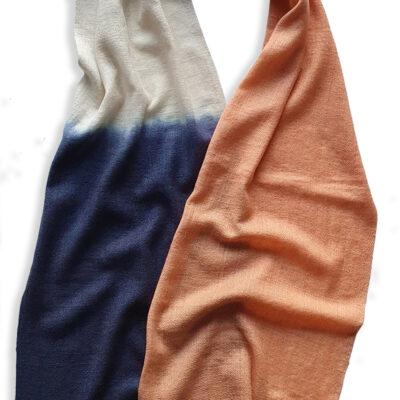 Handwoven Cashmere Scarf-Mayfair Peach