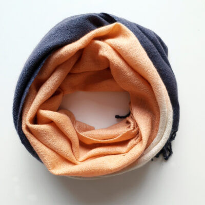 Handwoven Cashmere Scarf Mayfair Rose Cloud peach